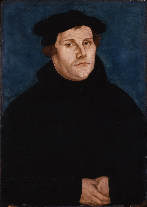 Martin Luther (1483-1546), portrait by Lucas Cranach the Elder (1472-1553), 1529. Oil on wood. © Deutsches Historisches Museum